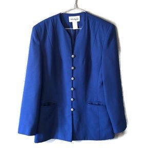 Henry Lee Royal Blue Blazer with Gold Buttons